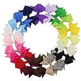 QtGirl 20 Farben 7,5cm Windrad klein Haarschleifen Haarspangen Haarclips Haarspangen für Mädchen Babys