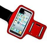 iPhone 6s plus Armband, Phone Mates Sport Red Armband for iPhone 6 plus / iPhone 6 pluss plus (5.5 inch) with Headphone and Key Slots