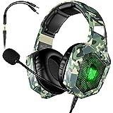 VersionTeCH. Gaming headset BX054 grön Kamouflage