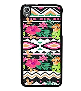 iFasho Animated Pattern colrful design flower with traditional design Back Case Cover for HTC Desire 820