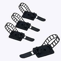 20pcs ajustable Cable Tie Bracket abrazadera de cable clip de alambre de gestión de Cable negro para ordenador electrónico eléctrico cableado de comunicación y fija