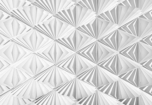 Komar - Fototapete DELTA - 368 x 254 cm - Tapete, Wand Dekoration, 3D, Fächer, Papier, Abstrakt, Design, Muster - 8-204 (Wand Papier Dekoration 3d)