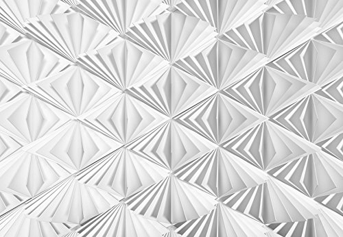 Komar - Fototapete DELTA - 368 x 254 cm - Tapete, Wand Dekoration, 3D, Fächer, Papier, Abstrakt, Design, Muster - 8-204