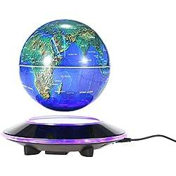 Anself - Led Globo Terrestre de Levitación Magnética. Diámetro 14.5cm, Color Azul