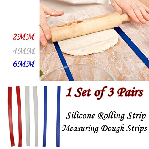 Momola 1 Set 18 pouces de silicone long bande de laminage de silicone bandes de pâte/perfection bandes