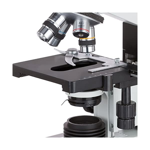 AmScope T490B 40X-2000X Full-Size Professional Trinocular Lab Biological Compound Microscope with 3D Two-Layer Mechanical Stage