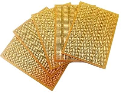 AnandCircuits PCB General Purpose Printed Circuit Board-Strip, Breadboard DIY for Engineers (120x165mm) - Set of 5