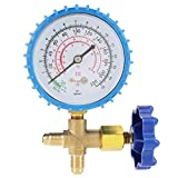 Air Conditioning Refrigerant, Recharge Pressure Gauge Manometer Fit for R410A R22 R134A R404A.