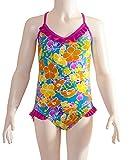 Zoggs - Costume da Bagno da Bambina, Intero, Scollo a V, Multicolore (Multi-Colour), 26'/66 cm