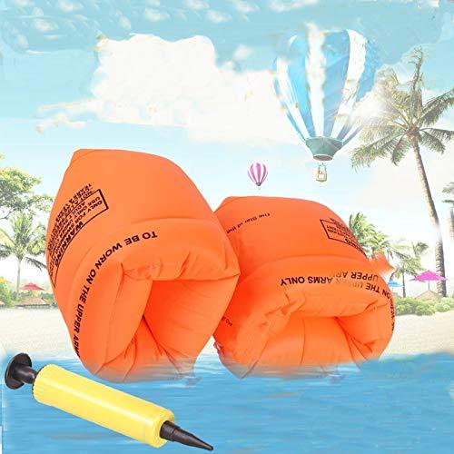 YTH Bras Floaties gonflable Swim Brassards Floater manches ronds de bain pour tube 1 paire de manchettes pour enfants les tout-petits et les adultes