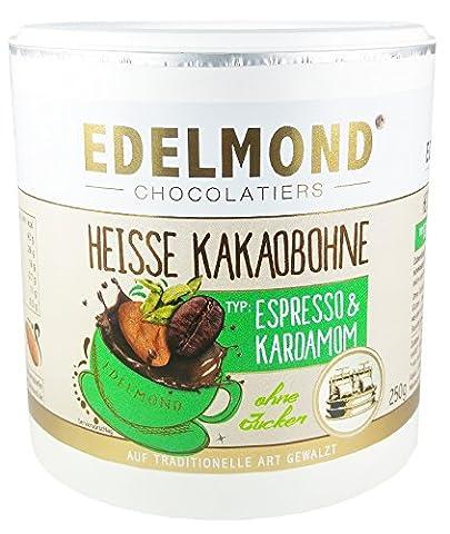 Edelmond Heiße Kakaobohne & Kaffee Bio. Konzentriert, ohne Zucker für Trinkschokolade. Vegan & Fairtrade, kein