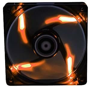 BitFenix Spectre BFF-BLF-20020O-RP Ventilateur avec LED Orange pour boitier 200 mm Noir