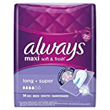 Always Maxi Soft & Fresh Binden Long, 4er Pack (4 x 14 Stück)