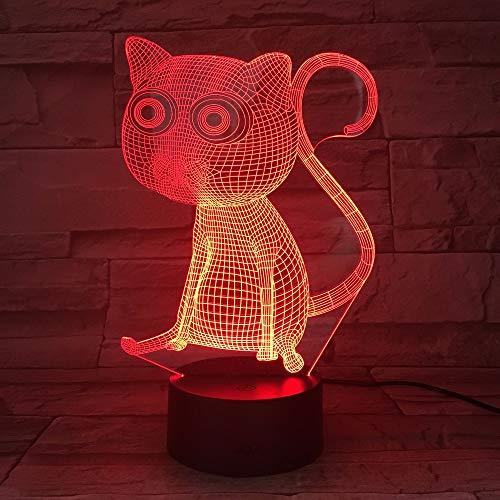 Blase Fisch 3D LED Lampe 7 Farbe Ändern Skorpion Lampe USB Katze Laden Tisch Lampen Erstaunliche Geschenke für Kinder Lava Lampe baby Zimmer Lampe Deco Katze Eine Größe -
