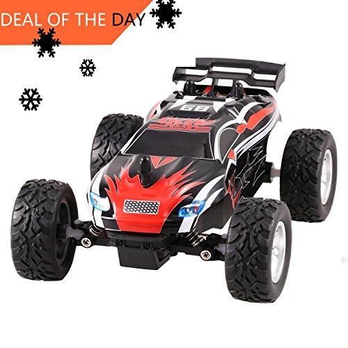 Smibie RC Autos, 1/24 2WD 15 km/h Funksteuerung Off Road Rennautos,mit 2,4 GHz Wireless-Technologie für Kinder und Erwachsene(Rot5) (Rc-elektro Buggy Racing)