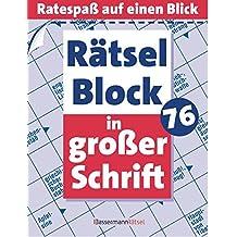 Rätselblock in großer Schrift 76: (5 Exemplare à 2,99 €)