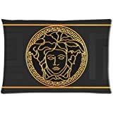 At-Baby Custom Versace Home Decoration Custom Zippered Pillow Cases 20x30 (Twin sides)