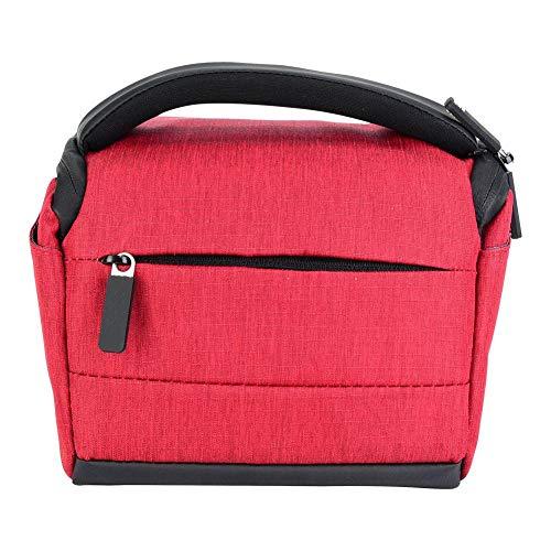 Qiterr Kameratasche Outdoor professionelle tragbare wasserdichte verschleißfeste Mode umhängetasche für Sony DSLR(rot)