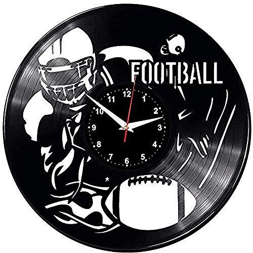 HCPGZAmerican Football Wanduhr Schallplatte Vinyl Uhr American Football