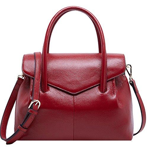 28743cc3cfa1 BOYATU Genuine Leather Top Handle Totes for Women Business Satchel Handbag  Elegant Ladies Shoulder Bag - Buy Online in Oman.