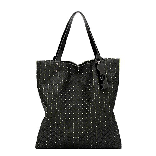 Damen Tasche Diamant Handtasche Geometrie Mosaik Umhängetasche Green