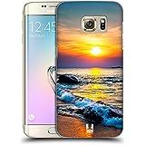 Head Case Designs Coucher Du Soleil Coloré Sur La Mer Beauté Plage Étui Coque D'Arrière Rigide Pour Samsung Galaxy S7 edge