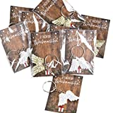 20 kleine FROHE WEIHNACHTEN Geschenke mit Schlüsselanhänger Engelsflügel UND KARTE verpackt - give-away Werbegeschenk Kunden Mitarbeiter Weihnachtsgeschenk