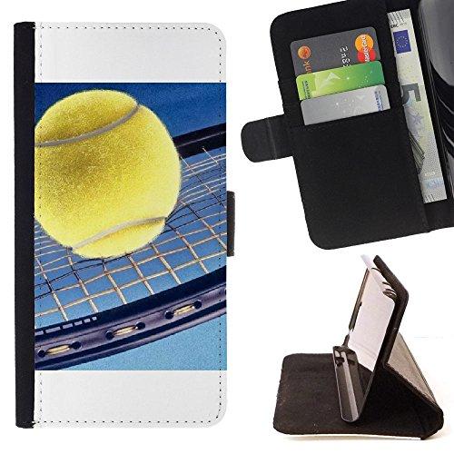 Graphic4You Tennis Ball Sport Brieftasche Leder Dünn Hülle Tasche Schale Schutzhülle für Apple iPhone XR -