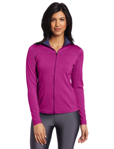 Ibex Outdoor Bekleidung Damen Indie Full Zip Long Sleeve Jersey, damen, Raspberry Violet (Ibex-wolle-jersey)