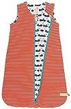 loud + proud Unisex Baby Wendeschlafsack aus Bio Baumwolle - Orange (Sunrise Su) , 50/56