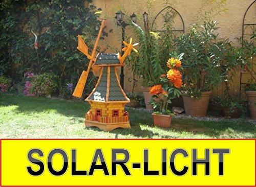 xlwindmuehle-wetterfestrobust-mit-bitumen-mit-windfahne-windrad-seitenruder-windmuehlen-garten-impraegniert-kugelgelagert-1-m-gross-gruen-gruengrau-moosgruen-mit-solarbeleuchtung-3
