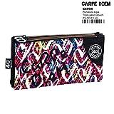 Montichelvo Montichelvo Triple Pencil Pouch CG Carpe Diem Trousses, 23 cm, Multicolore (Multicolour)