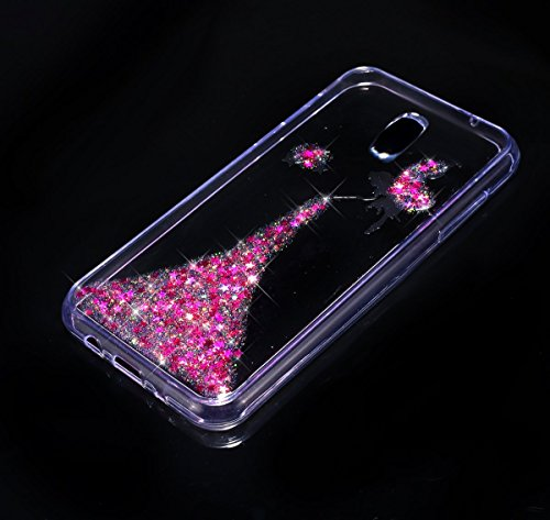 Galaxy J5 2017 Hülle,Galaxy J5 2017 Silikon Hülle,JAWSEU Schutzhülle Samsung Galaxy J5 2017 Hülle [Glitzer Strass Ring Stand Holder], Luxus Glitzer Bling Diamant Strass Spiegel TPU Case für Samsung Ga Fee Rosa