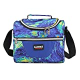 Yvonnelee 7L Thermal Isolato Bag Lunch Bag Cooler Bag for Work School Picnic isolato Cycling Shopping Travel Food Carrier For Men Women and Children Small Blau 7L/22*16*20cm