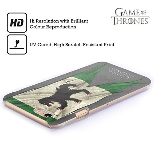Ufficiale HBO Game Of Thrones Stark Bandiere Sigilli Cover Retro Rigida per Apple iPhone 6 / 6s Mormont