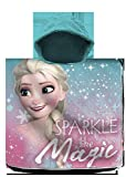 Disney Frozen - Poncho da Spiaggia in Cotone, 120 x 60 cm, per Il Tempo Libero e Lo Sport, Unisex, per Bambini, Taglia Unica