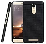 #10: Black Dotted Soft Case Back Cover For Xiaomi Redmi Note 3 - BLACK (FREE TEMPERED GLASS SCREEN PROTECTOR)