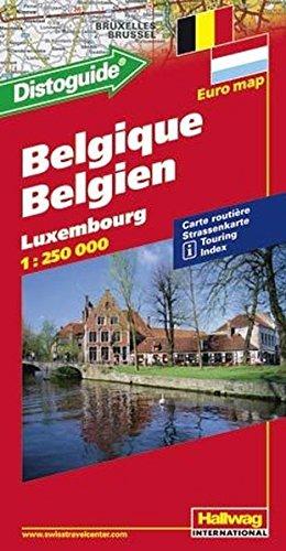 Belgium / Luxembourg DG hallwag (+r) (Road Map) par Hallwag Kummerly & Frey AG