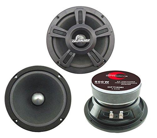 Pyle Opti Pro Leistungsstarker Bass-Lautsprecher (15,24 cm (6,5 Zoll), 500 Watt) -