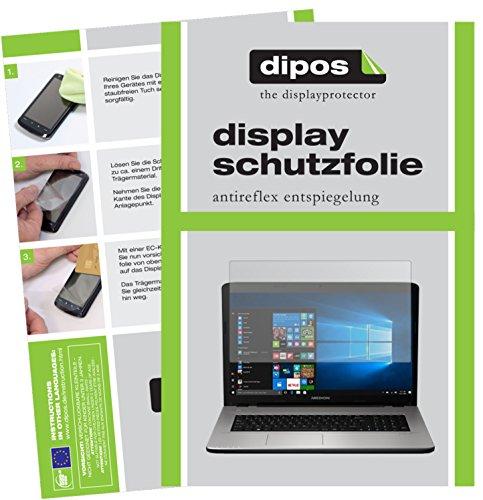 dipos I 2X Schutzfolie matt passend für Medion Akoya E7424 Folie Bildschirmschutzfolie