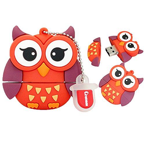 Red Owl Form Design 64 GB USB-Stick Cartoon Tier Memory Stick Pen Drive Jump Drive Thumb Drive