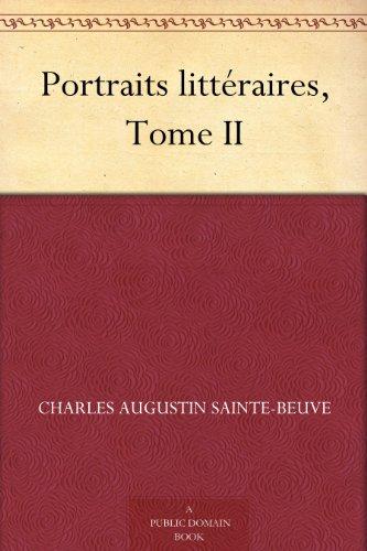 Couverture du livre Portraits littéraires, Tome II