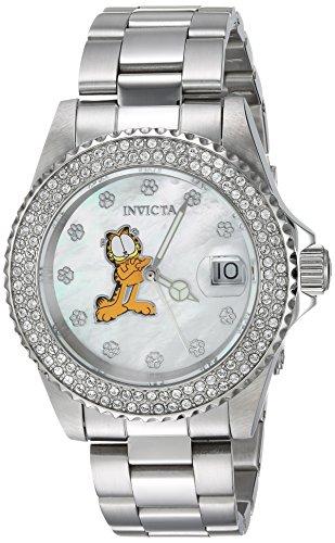 Invicta 24868 Character - Garfield Damen Uhr Edelstahl Quarz weißen Zifferblat