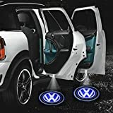 #8: Som'S 2X Car Logo Led Shadow Welcome Light Door Projector And Soms Logo Keyring For Volkswagen Polo Gt Tsi(Petrol)