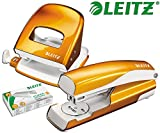 Leitz 5008 NeXXt Series Bürolocher, Metall, bis zu 30 Blatt (Set │ orange)