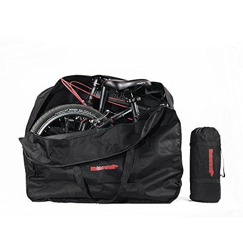 Upanbike Fahrrad-Aufbewahrungstasche, für Outdoor-Reisen, für 50,8 cm (20 Zoll) große Falträder, Schwarz