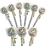9 x Einhorn Stifte + Radierer für Kinder ┃ Kindergeburtstag ┃ Mitgebsel ┃ Regenbogen Einhorn ┃ 9 Stück