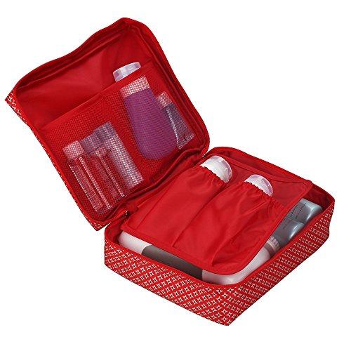 Tophie Cosmetico Bag Borse Viaggio Organizzatori Imballaggio Cubi di Viaggio,Impermeabile Custodia da Viaggio Wash Bag per Accessori Bagno e Trucco, Kit Rasura e Liquidi 6#