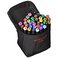 Stoffmarkers 12 pack dual tip MINIMAL BLEED Empire pigment fine permanent graffiti Colouring fabric pens by crafts, 4 all. Safe for children and non-toxic.