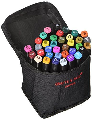Sustancia marcadores 36 Pack Dual Tipp mínimamente BLEED rico pigmento sustancia finamente permanentemente Graffiti Farbung puntas por Crafts 4 All. Niño Safe & Nicht-Giftig.